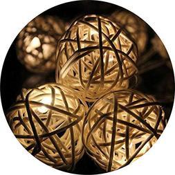 Birdfly Tumbleweed Sepaktak 20/30 Rattan Balls Lights, Weddi