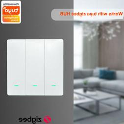 Tuya ZigBee Push Light Switch Home Automation Voice APP Cont