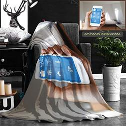 Unique Custom Double Sides Print Flannel Blankets Smart Home