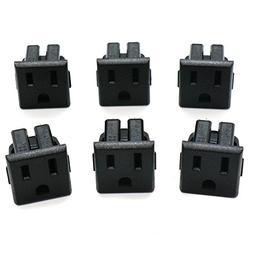 HUELE 10 Pcs US 3 Pins Power Socket Plug Connector Adapter A