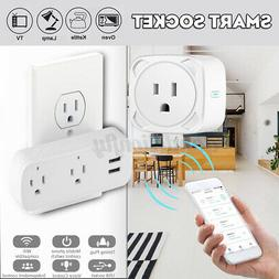 US WiFi Smart Remote Control Power Socket Home Automation Wi