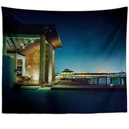 Westlake Art Wall Hanging Tapestry - Reflection Night - Phot