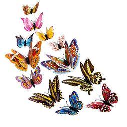 LiPing Wall Paper 3D DIY 12 Luminous Dancing Butterflies Mag