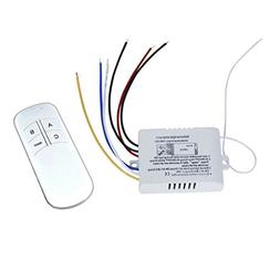 WINGONEER Wall Switch And Remote Control 3-Way ON/OFF Light