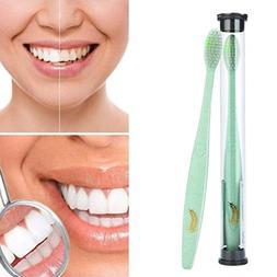 LiPing Wheat Stalks Toothbrush Slim Teeth Head Whitening Bru