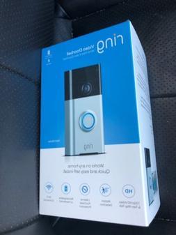 Ring Wi-Fi Enabled Video Doorbell Satin Nickel