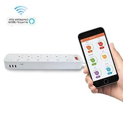 Digital Gadgets Wi-Fi Multi-Outlet Smart Power Strip 6 Outle