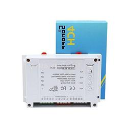 Sonoff Wi-Fi Smart Switch 4-Gang Din Rail Mounting, Work wit