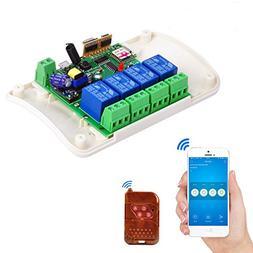 4 Channel Wifi Relay Module Phone APP Wireless Remote Contro