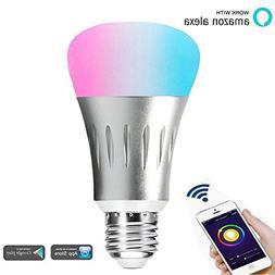 WiFi Smart Light Bulb - Wireless Dimmable LED Smart Bulb Com