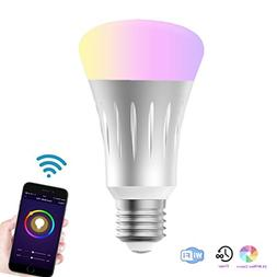 Wifi Smart Led Light bulb,Work With Alexa Google Home IFTTT