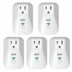 KMC WiFi Smart Plug 5pack w/ Energy Monitoring and Schedule