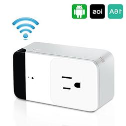 SHARKSBox WiFi Smart Plug Mini Outlet,Compatible with Alexa