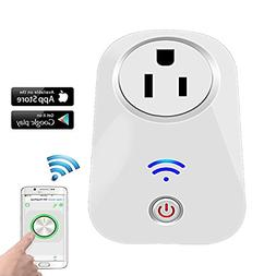 WOSUK Wifi Smart US Plug Power Switch Socket Outlet Wireless