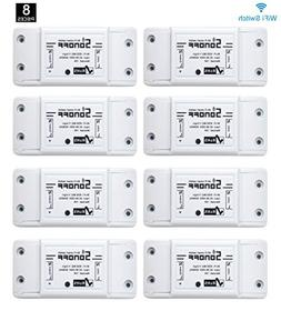 Sonoff WiFi Switch 8-Pack Alexa Switches Wireless Remote Con