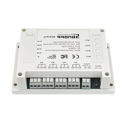 MagiDeal 4 Channel WiFi Wireless Smart Switch APP Remote Con