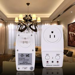 Wireless Remote Control Outlet AC Power Electrical Light Swi