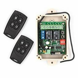 12 - 24V Wireless RF Remote Control Relay Switch Receiver 2-