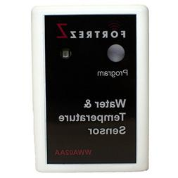Wireless Water & Temperature Sensor White w/ LED; Cert ID: Z