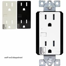 Z-Wave 15A Duplex Receptacle Wireless Control Outlet