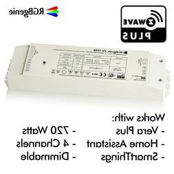 Z Wave LED Driver 110v in 24v out RGBW Controller Built-In P