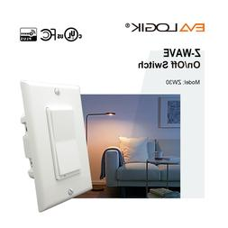 EVALOGIK Z-Wave Plus On/Off Switch Smart Home Automation - W