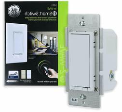 GE Z-Wave Plus Smart Control Dimmer Switch, Wall, White & Li