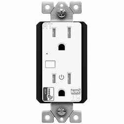 ENERWAVE Z-Wave Plus Wall Outlet with Smart Meter Energy Mon