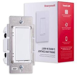 Honeywell Z-Wave Plus Smart Fan Speed Control, 3-Speed In-Wa