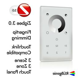zigbee touch panel single color in wall