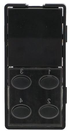 Simply Automated ZS25O-BN Single-Rocker with Oval 4-Button F