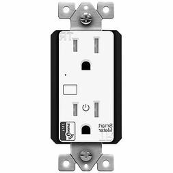 ENERWAVE ZW15RM-PLUS Z-Wave Plus Wall Outlet with Smart Mete